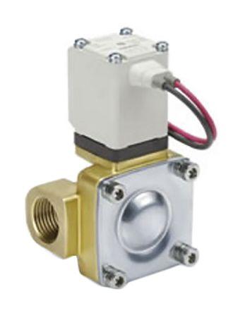SMC螺纹黄铜电磁阀/导阀/弹簧气动电磁阀VXD242HLA系列