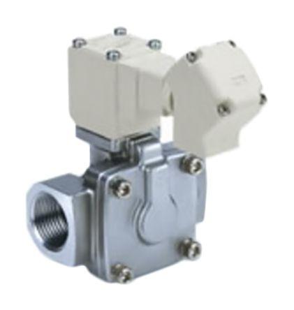 SMC螺纹不锈钢电磁阀/导阀/弹簧气动电磁阀VXD242KLK系列