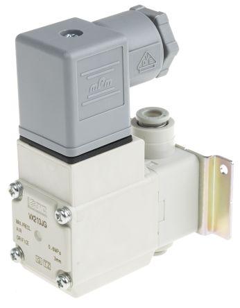 SMC螺纹树脂电磁/弹簧气动电磁阀VX210JG系列