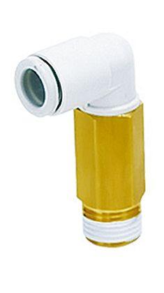 SMC聚碳酸酯直角气动弯管螺纹-管适配器KQ2W04-01AS系列