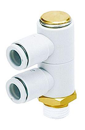 SMC聚碳酸酯直角气动弯管螺纹-管适配器KQ2VD06-02AS系列
