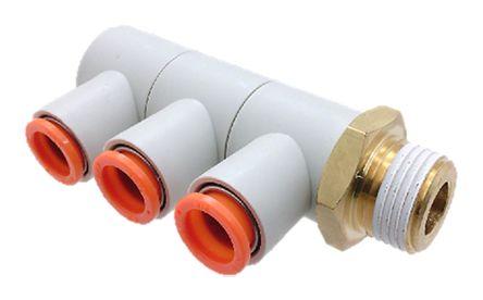 SMC聚碳酸酯气动弯管螺纹-管适配器KQ2VT12-04AS系列
