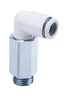 SMC聚碳酸酯直角气动弯管螺纹-管适配器KQ2L10-U03A系列
