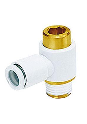 SMC聚碳酸酯直角气动弯管螺纹-管适配器KQ2VS08-03AS系列