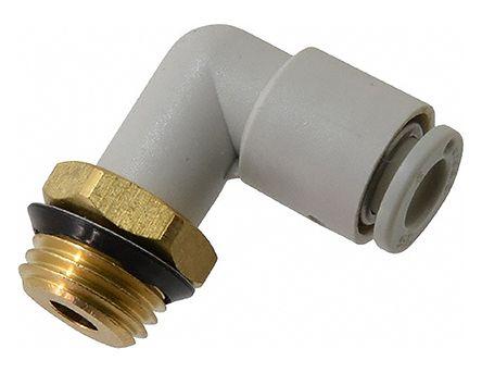 SMC聚碳酸酯直角气动弯管螺纹-管适配器KQ2L12-02AS-X35系列
